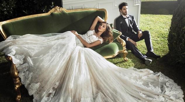Gli abiti da sposa di Alessandro Angelozzi: Belen la protagonista