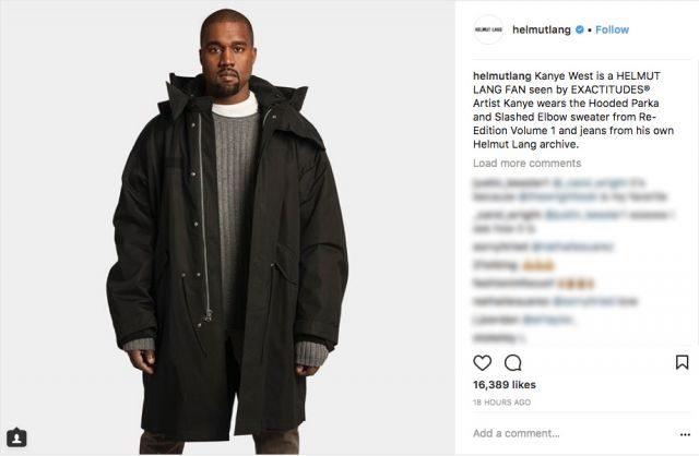 Kanye West and Solange pose for Helmut Lang
