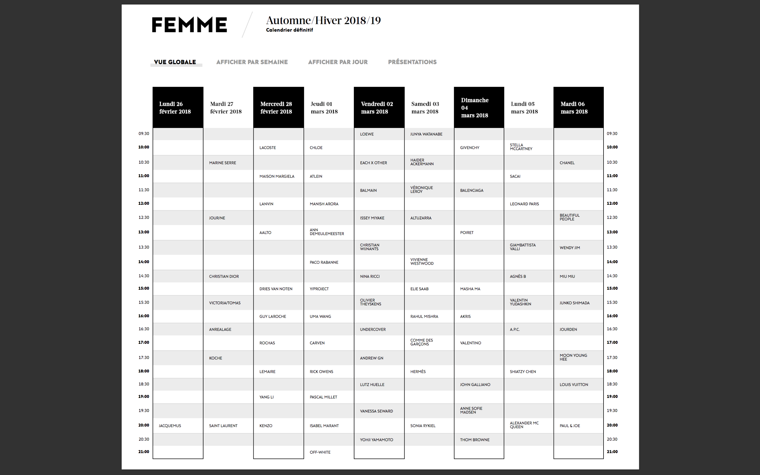 Paris Fashion Week The Calendar Il Magazine Di Michele Franzese Moda