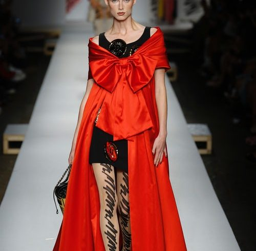 Moschino Spoofs the Fashion Cycle