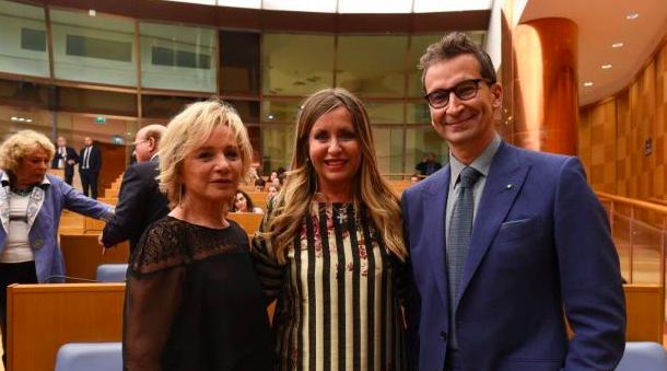 Alberta Ferretti and Federico Marchetti superstar at the America Award