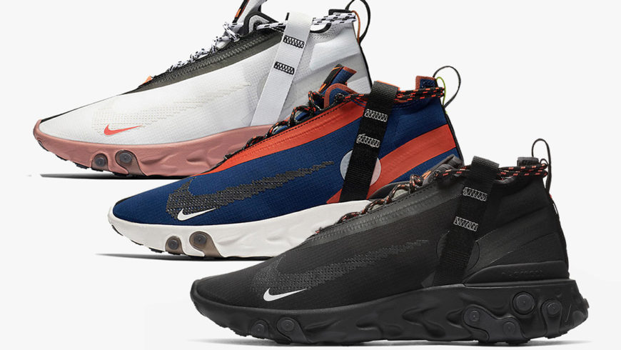 Nike React Mid Runner and Nike Air Max 97 b/w superstar at Michele Franzese