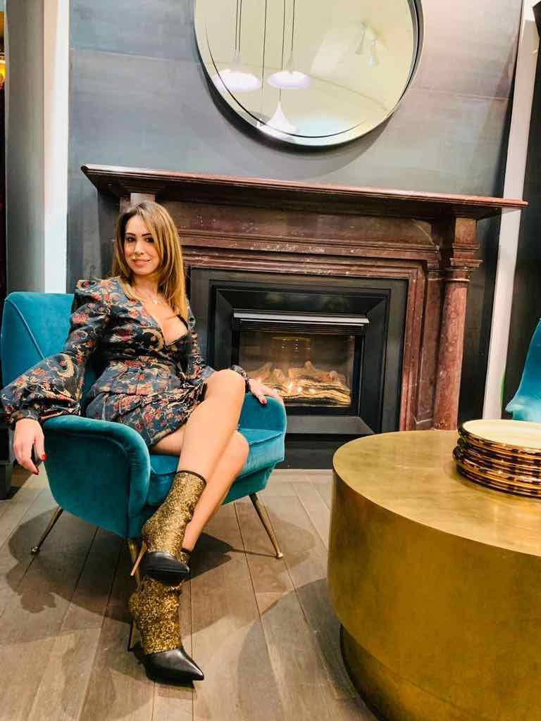"""Serie A fashion: A Wandering suit for Claudia Mercurio at """"Il Bello del Calcio"""""""