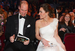 Kate Middleton shines at the Bafta with her white dress