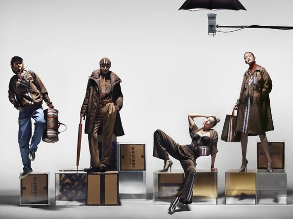 Gigi Hadid goes all out for the new Burberry campaign