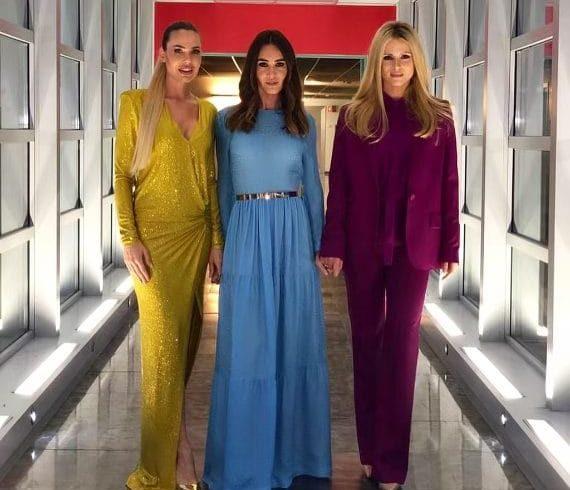 Blasi, Marcuzzi, Toffanin and Hunziker: the Spice girls of TV make Friends crazy