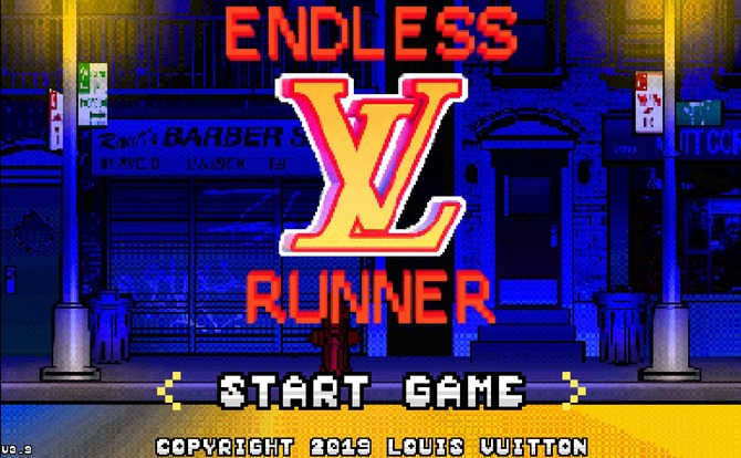 "Virgil Abloh designed ""Endless Runner"" for Louis Vuitton"
