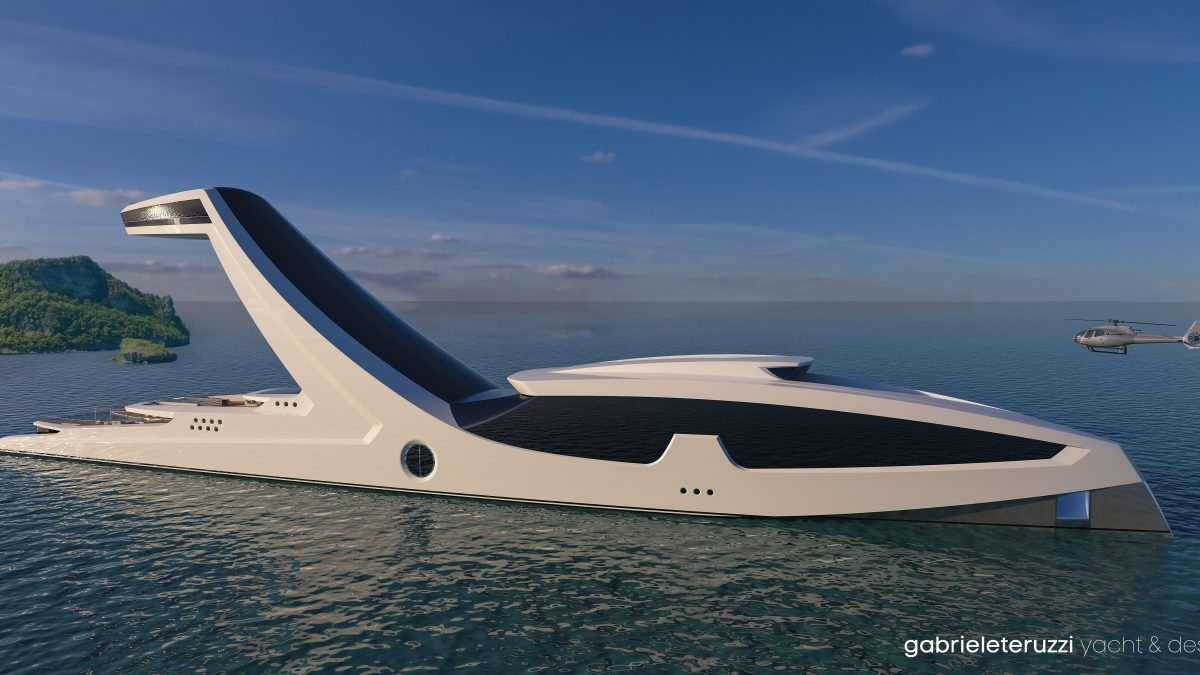 Shaddai: yacht superlusso con torre panoramica