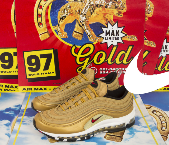 """Nike Released The Air Max 97 """"Italy"""" In Gold, already available !"""