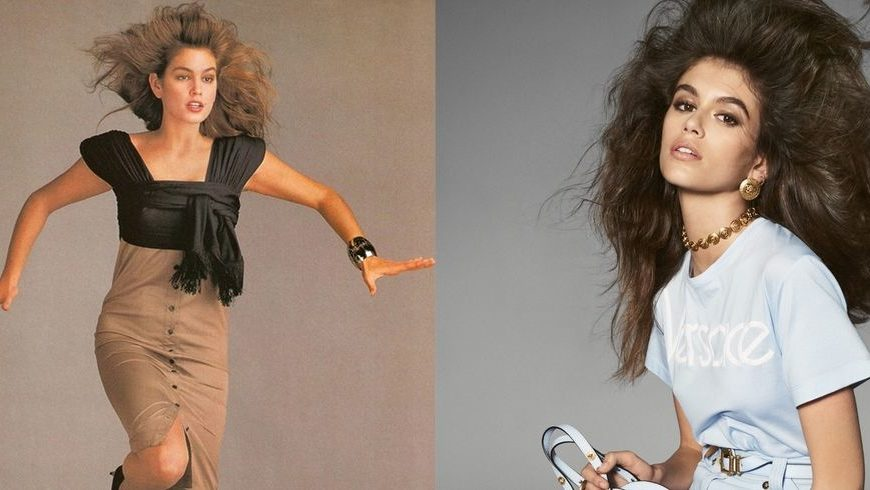 Cindy Crawford and Kaia Gerber look identical in Versace campaigns