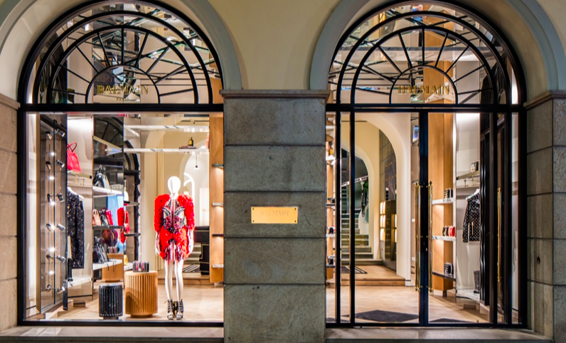 A Milanese store for Balmain: it is the first in Italy