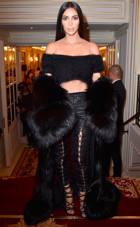 No more furs for Kim Kardashian too