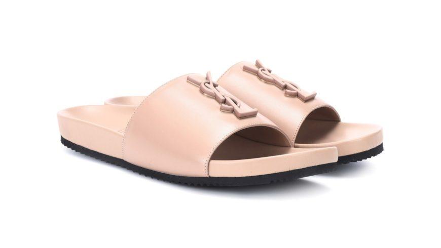 Saint Laurent Just Revealed a Luxe Dusky Pink Slide