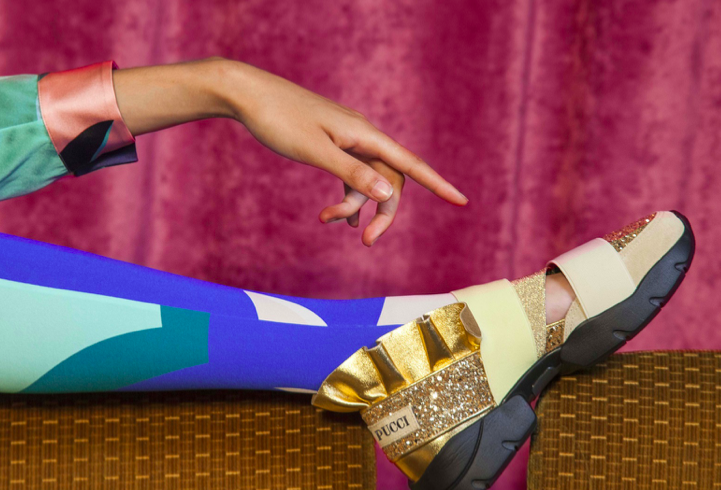 Pucci Night, shoes and glitter bags for autumn 2018