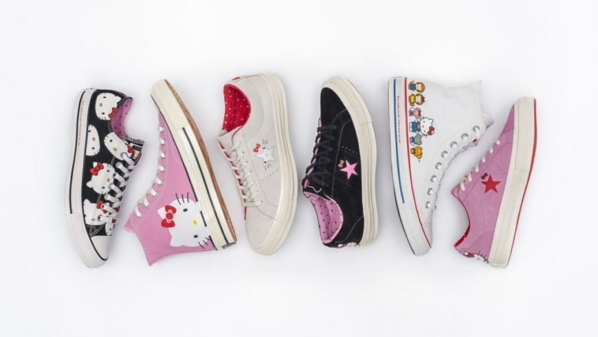 Here is the new shoe line born from the collaboration between Hello Kitty and Converse