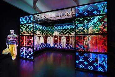 Virgil Abloh, pop-up in London for Louis Vuitton