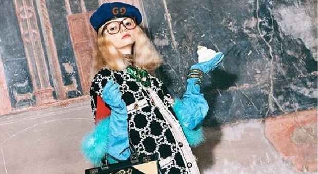 Gucci between the excavations of Herculaneum and Pompeii for the Pre-Fall woman 2019