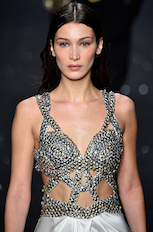 Bella Hadid star of the Alberta Ferretti fashion show at Milan Fashion Week