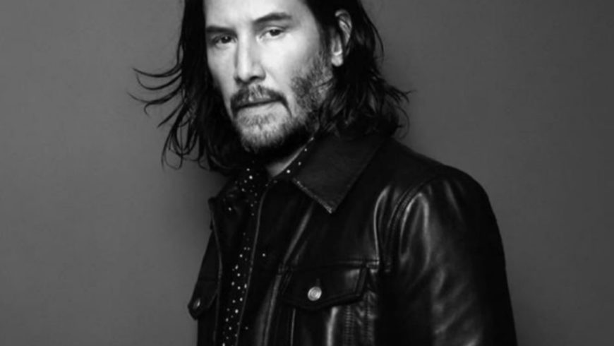 Keanu Reeves, splendid 50 year old for Saint Laurent
