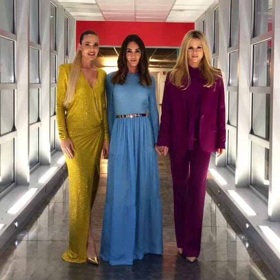 Blasi, Marcuzzi, Toffanin and Hunziker: the Spice girls of TV make Friends crazy