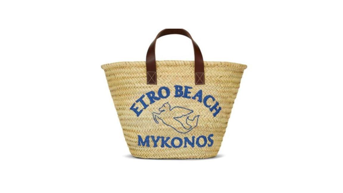 Etro x Luisa World: the straw bag dedicated to Mykonos