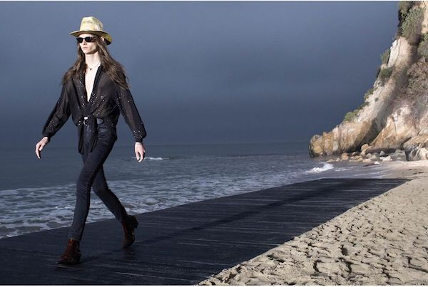 Saint Laurent in Malibu, 'dust' on the parade