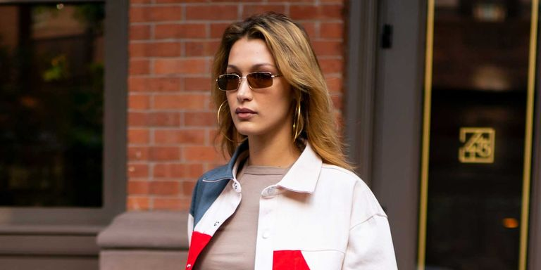 Bella Hadid pulls out the (Diesel) summer 2019 jacket, to be worn strictly with an underboob