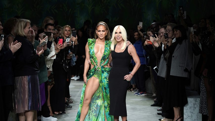 Mulling the Great Then and Now at Versace, with J. Lo