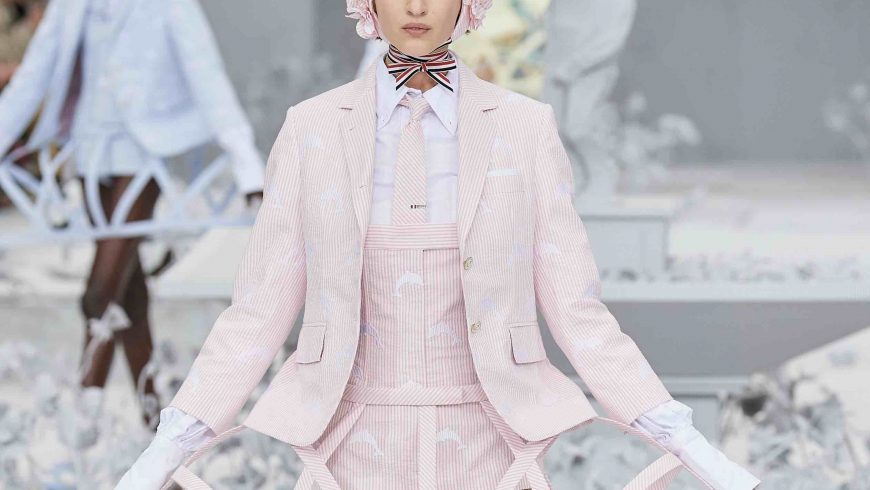 In the garden of the courtesans of Thom Browne