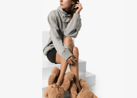 Must-have: the Vetements teddy bear-shaped slippers