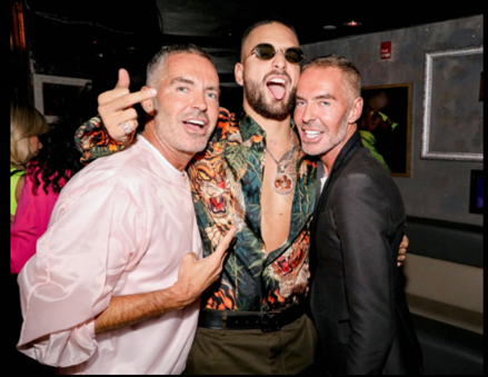 Dean and Dan Caten of Dsquared2 celebrate Maluma at sold-out Madison Square Garden show for the 11:11 worldwide tour 2019