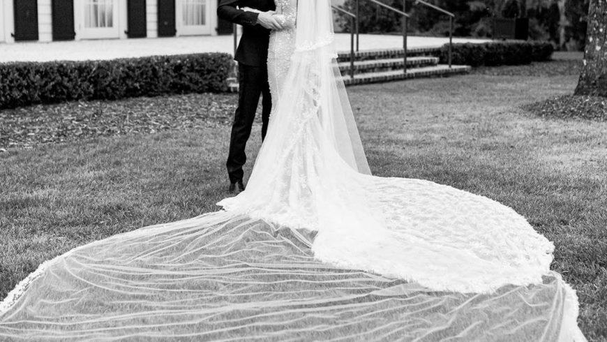 Hailey Baldwin si è sposata in chiesa con Justin Bieber: l'abito è di Virgil Abloh