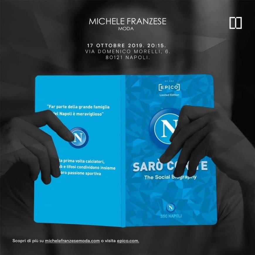 The excellence of Made in Naples football and fashion in an exclusive event at the luxury brands store of Michele Franzese