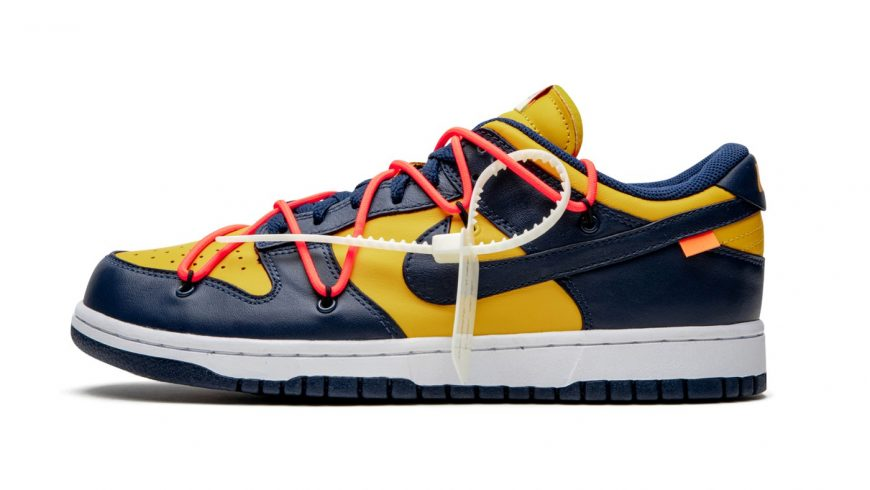 "A Better Look at the Off-White™ x Nike Dunk Low ""University Gold"""