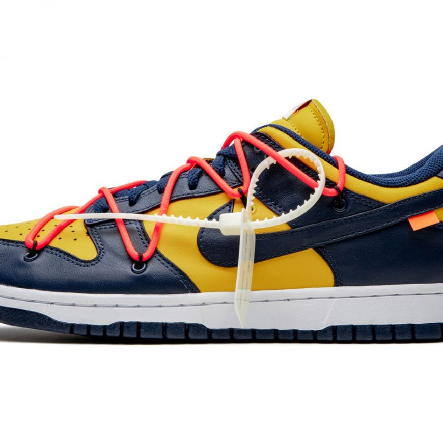 """A Better Look at the Off-White™ x Nike Dunk Low """"University Gold"""""""