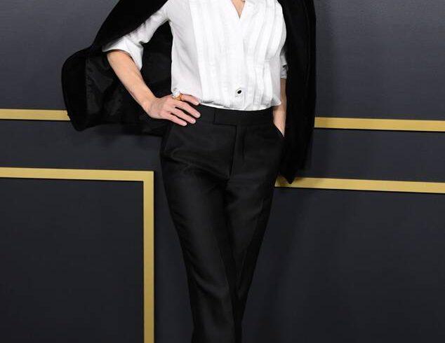 Renee Zellweger in a black Tom Ford