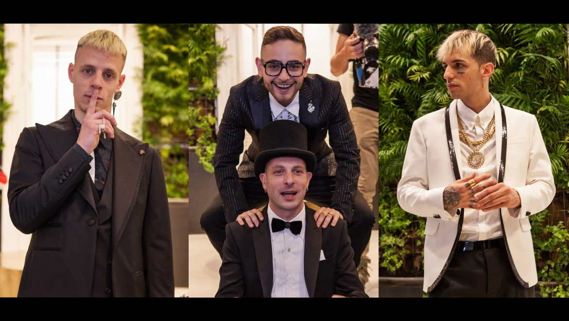 Achille Lauro, that day in Naples with Rocco Hunt, Clementino and Boss Doms which started in Michele Franzese's boutique