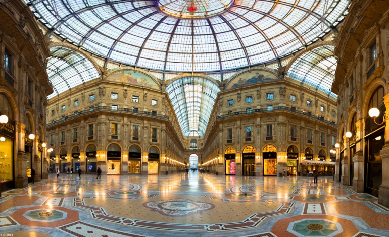 Lvmh, shop at the Galleria in Milan with Dior and Fendi
