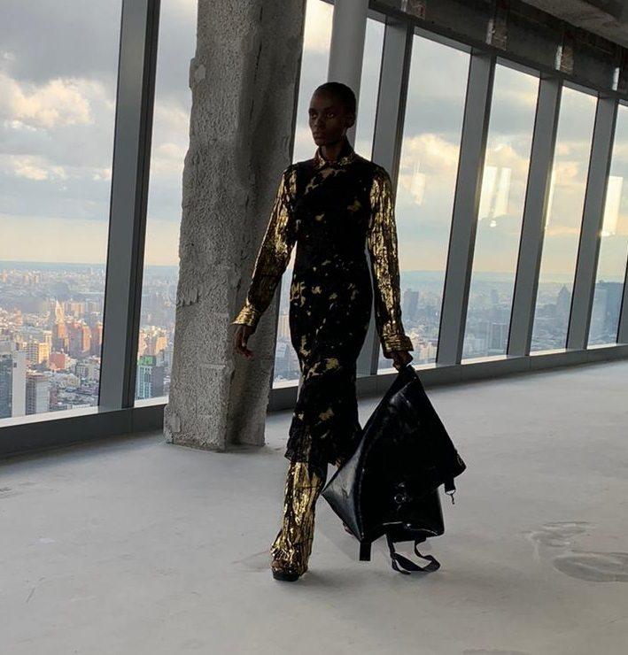 Sies Marjan, rural eco fashion in the skies above Manhattan