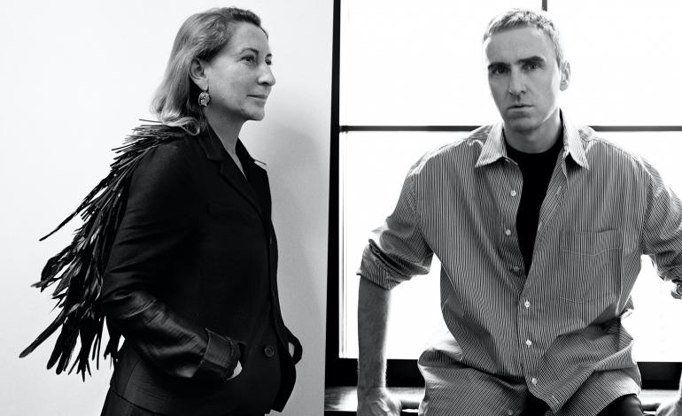Raf Simons alongside Miuccia Prada