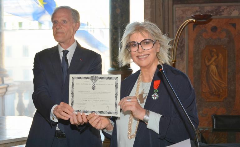 Alda Fendi awarded the Legion d'honneur