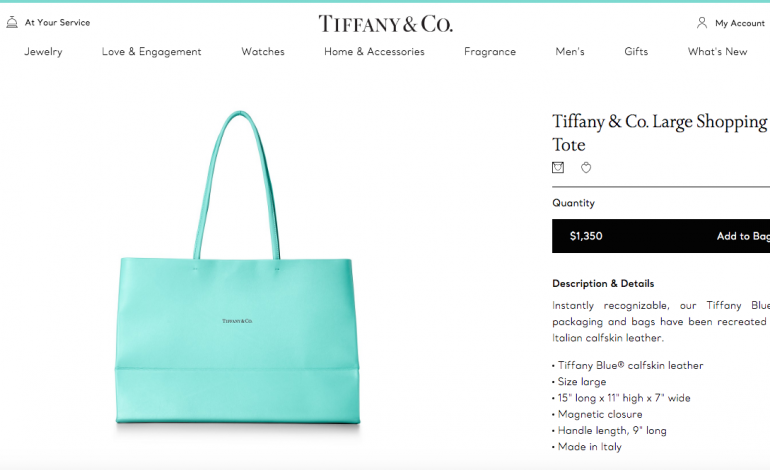 The Tiffany shopping bag, from gadgets to products