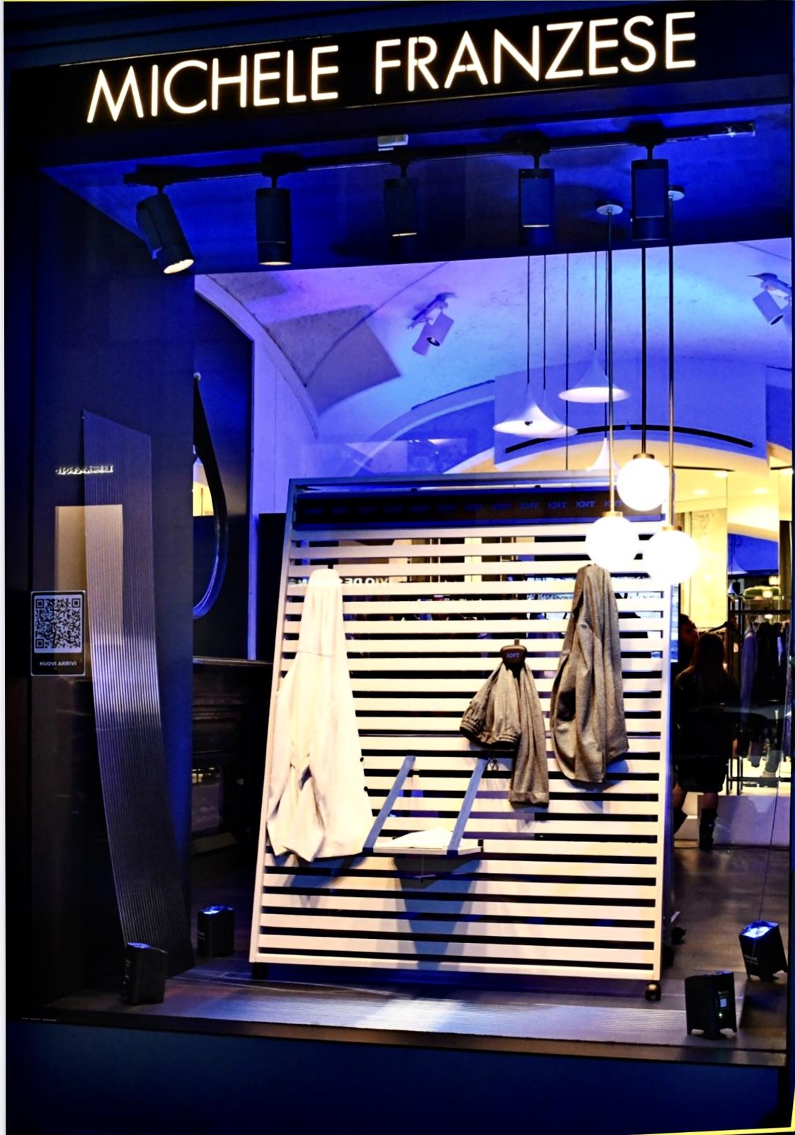 """Il mondo e la mission di """"Michele Franzese moda"""": vivere, sorprendere, creare emozioni. SS20: saldi fino al 50% e un assistente virtuale per lo shopping on line."""