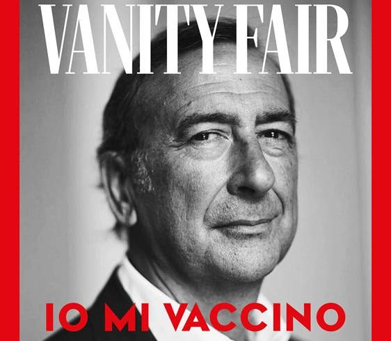Vanity fair, social campaign for the anti-covid vaccine