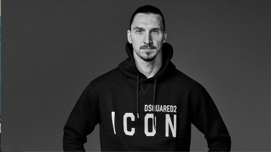Ibrahimovic: Sanremo Festival, limited edition Icon with Dsquared2 and exclusive showcase in Michele Franzese Moda store