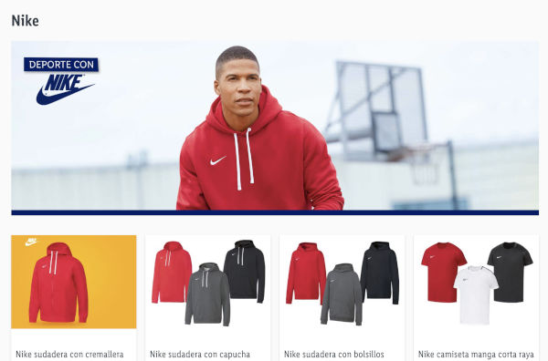 Nike, surprise on the Lidl website