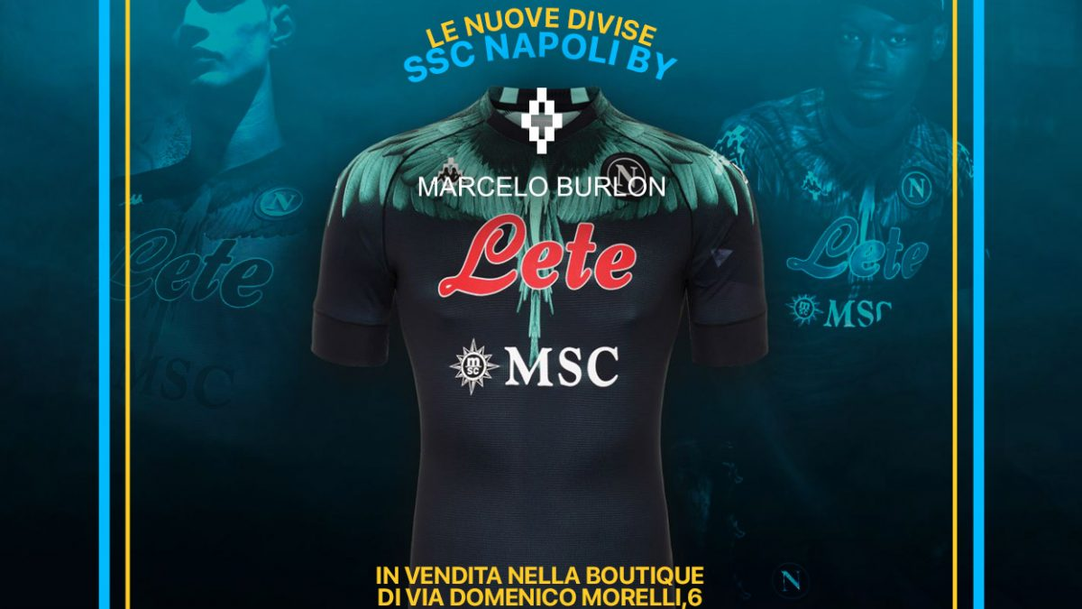 Napoli, new shirt signed by Marcelo Burlon exclusively by Michele Franzese Moda