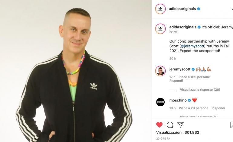 Partnership between Jeremy Scott and Adidas Originals restarts
