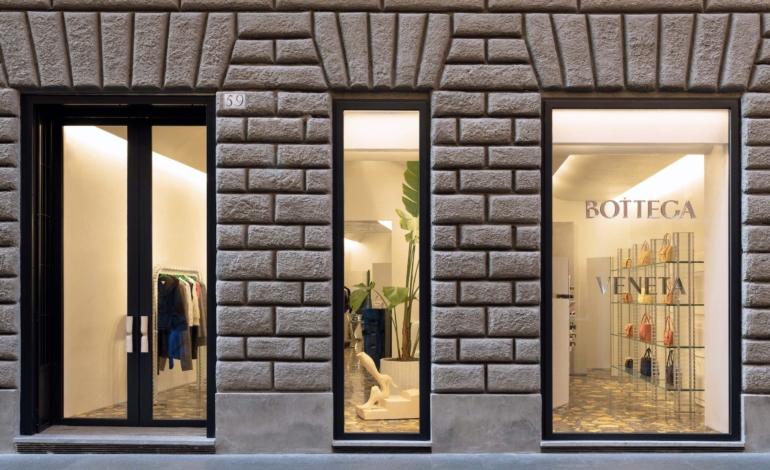 Maxi store in via Condotti per Bottega Veneta